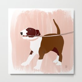 Eugenie the Bull Terrier Metal Print