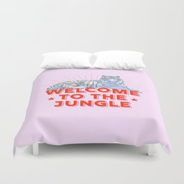 welcome to the jungle - retro tiger Duvet Cover