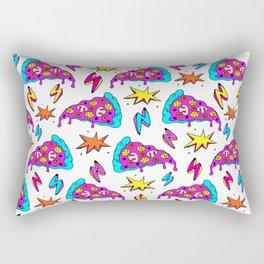 Crazy space alien pizza attack! Rectangular Pillow