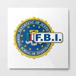 FBI Seal Mockup Metal Print