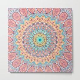 Jewel Mandala Faded - Mandala Design Metal Print