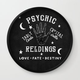 Psychic Readings Fortune Teller Art Wall Clock