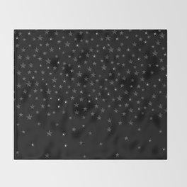 Black Stars Throw Blanket