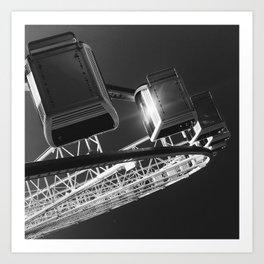 atop the wheel Art Print