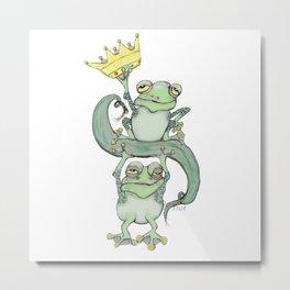 King Frog Metal Print