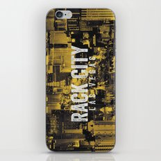 Black Yellow Cool Rack City Las Vegas Photography iPhone & iPod Skin