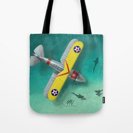 Duck in Trouble Tote Bag