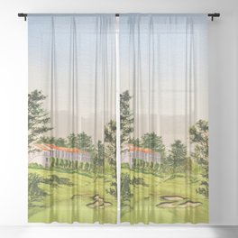 The Olympic Golf Course 18th Hole Sheer Curtain