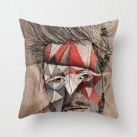 men Throw Pillows featuring Men by Mary Szulc
