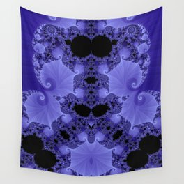 Fabulous Fractals - Blue Shells Wall Tapestry