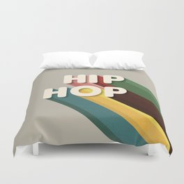HIP HOP - typography Duvet Cover