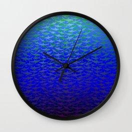 Sharks In Deep Water. Wall Clock