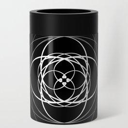 Black White Swirl Can Cooler