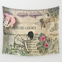 Thyme Garden Wall Tapestry