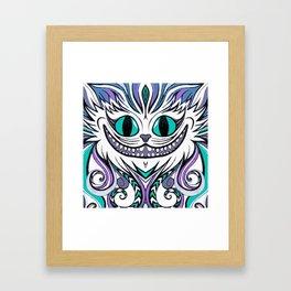 Chesire Smile Framed Art Print