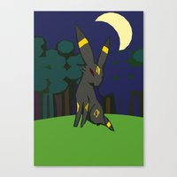 umbreon Canvas Prints featuring Umbreon by Bearpark