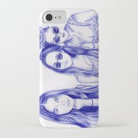 haim iPhone & iPod Cases featuring Haim Sisters by annelise johnson