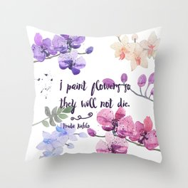 Paint Flowers Throw Pillow