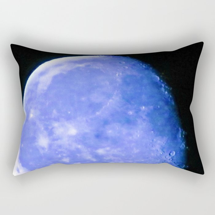 Icy Blue Moon Rectangular Pillow