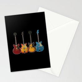 Four Electric Guitars Stationery Cards