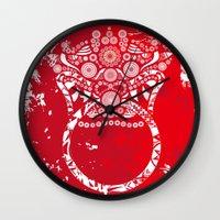 korean Wall Clocks featuring korean goblin - DOKKAEBI by T.Grimm