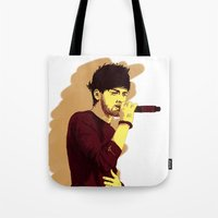 zayn Tote Bags featuring Zayn by Intrepid Lens
