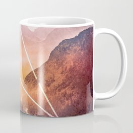 The Elements Geometric Nature Element of Fire Coffee Mug