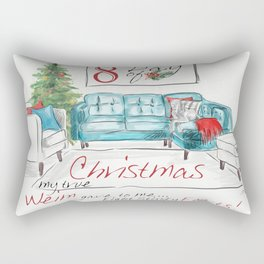 EIGHTH DAY OF CHRISTMAS WEIMS Rectangular Pillow