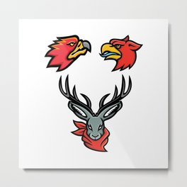 Mythical Creatures Mascot Collection Metal Print