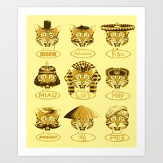 Many Meows Art Print