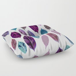 Pink Leaves 2 Floor Pillow