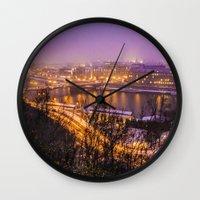 prague Wall Clocks featuring Prague 1 by Veronika