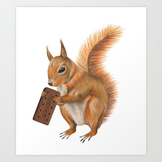 Super squirrel. Art Print