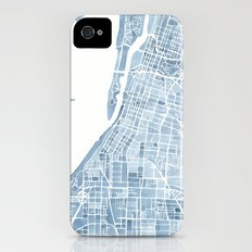 Memphis Tennessee blueprint watercolor map iPhone (4, 4s) Slim Case