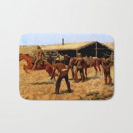 "Frederic Remington Western Art ""Pony Express"" Bath Mat"