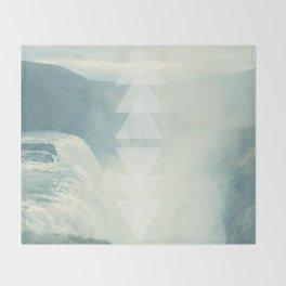 Geometric Waterfall (Western Sea) Throw Blanket