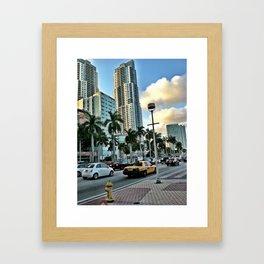 taxi cab miami Framed Art Print