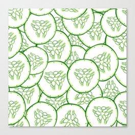 Cucumber slices pattern design Canvas Print