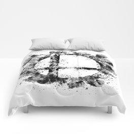 Super Smash Bros Ink Splatter Comforters