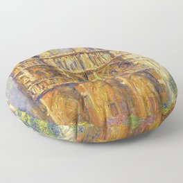 Paris, Notre Dame Cathedral, the Effect of Sunlight, French landscape by Francis Picabia Floor Pillow