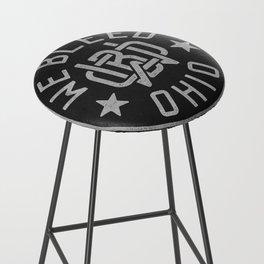 WeBleedOhio Monogram Logo Stamp Bar Stool
