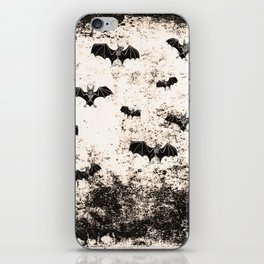 Vintage Halloween Bat pattern iPhone Skin