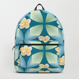 Plumeria Floral Backpack