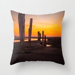 Pacific Beach Sunset Throw Pillow