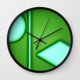 Green lights Wall Clock