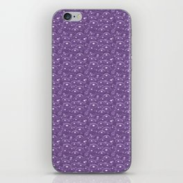 Purple Blue Bubbles iPhone Skin