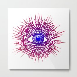 EYE OF PROVIDENCE - THE ABILITY OF SEE Metal Print