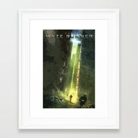 maze runner Framed Art Prints featuring The Maze Runner by TK Studios