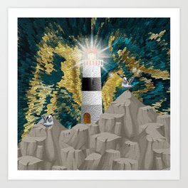 Calm In The Storm Art Print