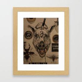 SADIST WHORE Framed Art Print